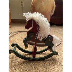 """Vintage Handmade Mini Rocking Horse Wood 6"""""""